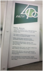 A logo and signage have been adopted for PATH400, the new name of the trail to be built in the Ga. 400 corridor. Credit: Livable Buckhead
