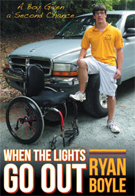 Photo of cover of Ryan Boyle's autobiography of recovering from a near-fatal bicycle accident.