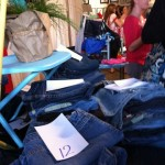 Photo of jeans at the swap.
