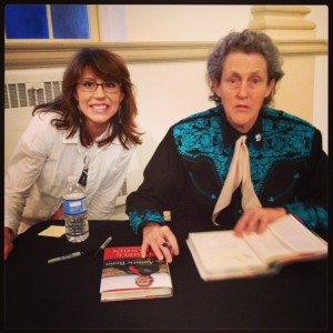 Photo of Paige Mitts and Temple Grandin