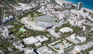 This is the revised aerial plan for the Miami Beach Convention Center district, as presented by Tishman South Beach ACE. Credit: City of Miami Beach