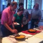 Photo of cornbread tasting at DeKalb History Center.