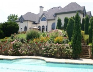 This home in Alpharetta comes with two acres and a pool for $1.1 million. Credit: trulia.com