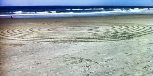 Photo of beach labyrinth