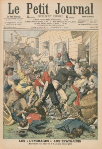 "The race riot of 1906 made international headlines and threatened Atlanta's image as a thriving New South city. The caption on the French publication's cover reads ""Lynchings in the United States: Massacre of Negroes in Atlanta."""