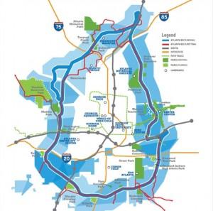The Atlanta BeltLine is a planned 22-mile loop around Atlanta. Credit: beltline.org