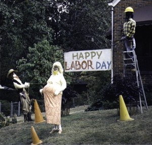 photo of Labor Day lawn display