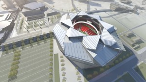 The Falcons stadium project continues to require action by the Atlanta City Council. Credit: newstadium.atlantafalcons.com