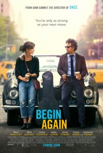 """Movie poster for """"Begin Again"""""""