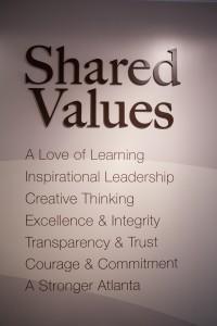 Shared Values of the Goizueta Foundation and family