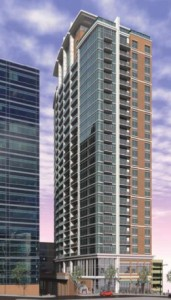 This rendering illustrates the planned Tech Square Tower in Midtown. Credit: Invest Atlanta