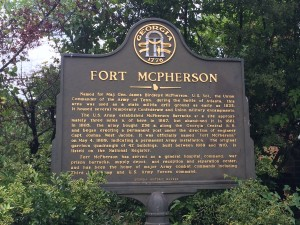 According to this historic marker, Fort McPherson predates Atlanta and was established shortly after the Campbellton community was formed to the west of the military post. Credit: Donita Pendered