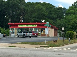 This food market with bars on the windows, doors, is part of the gateway to Campbellton Road near Fort McPherson. Credit: Donita Pendered