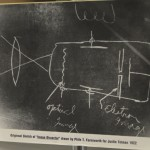 "At 14, Farnsworth made this drawing of the ""image dissector"""