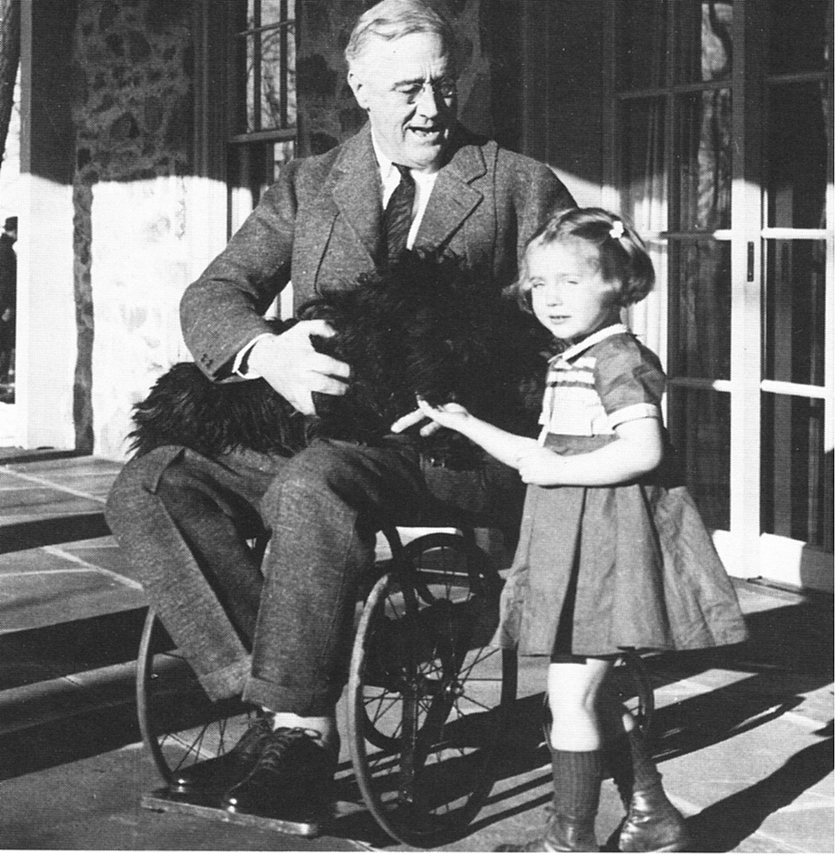 FDR in 1941. One of only a few pictures ever taken of him in a wheelchair.