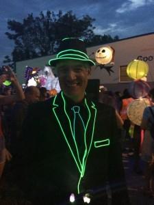 Paul Morris, Atlanta BeltLine CEO, during 2014 Lantern Parade (Special from Paul Morris)