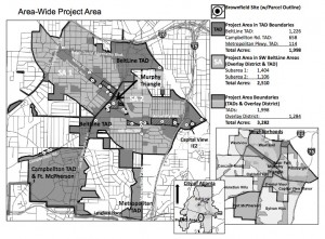 Atlanta conducted a brownfields assessment in 2012 of 3,282 acres in southwest Atlanta. Click on the image for a larger version. Credit: City of Atlanta