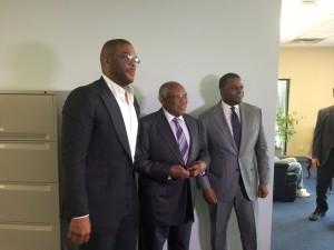 Tyler Perry, Felker Ward and Atlanta Mayor Kasim Reed