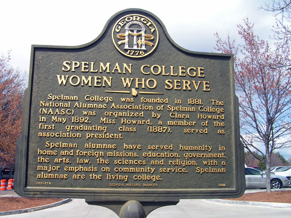 Historic marker of Spelman College: