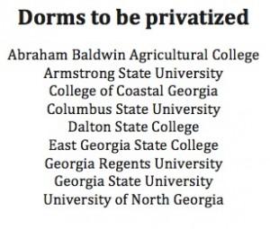 Privatized dorms