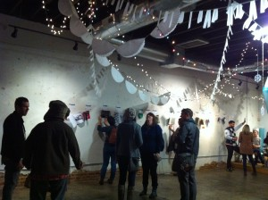 Zines displayed on the walls at Hodgepodge Coffeehouse in East Atlanta at the Jan. 2 Printed Matter fundraiser.