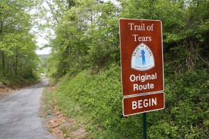 The Trail of Tears in Floyd County.