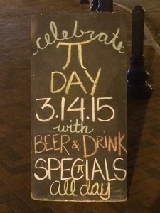 Local restaurants like Slice & Pint in Emory Village are offering Pi Day specials on Saturday.