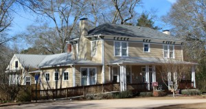 The family home of Atticus Haygood as it looks today, now known as the Chappelle Gallery, in Watkinsville. Credit: Roots and Wings.com