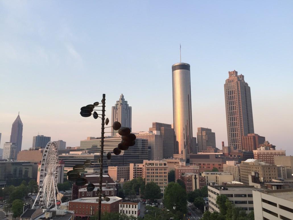 Atlanta downtown from the Glenn Hotel's Sky Lounge by Lexi Severini