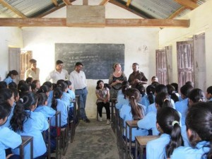 Nepal class on feminine hygiene