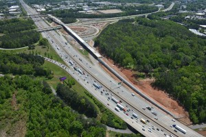 Georgia is building a bridge almost 6,000 feet long, near Marietta, to create a toll way system that's intended to reduce traffic congestion along Atlanta's Northwest Corridor. Credit: GDOT