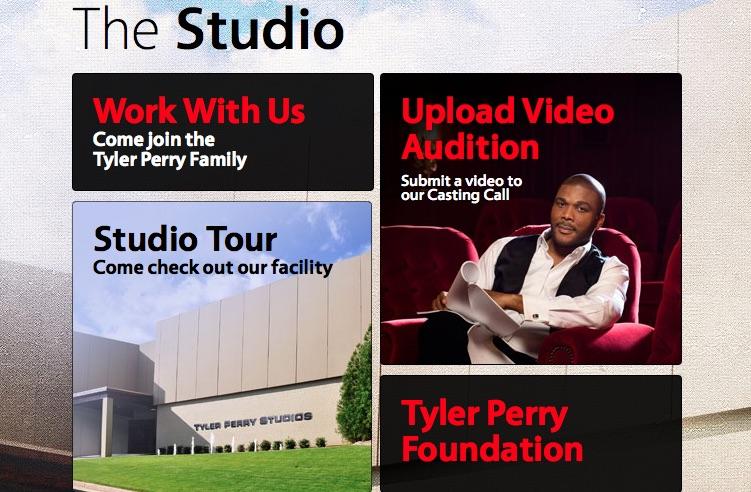 Tyler Perry, studio website