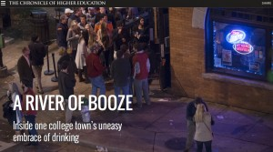 """The University of Georgia was featured in a national publication in a story titled, """"A River of Booze."""" Credit: chronicle.com"""
