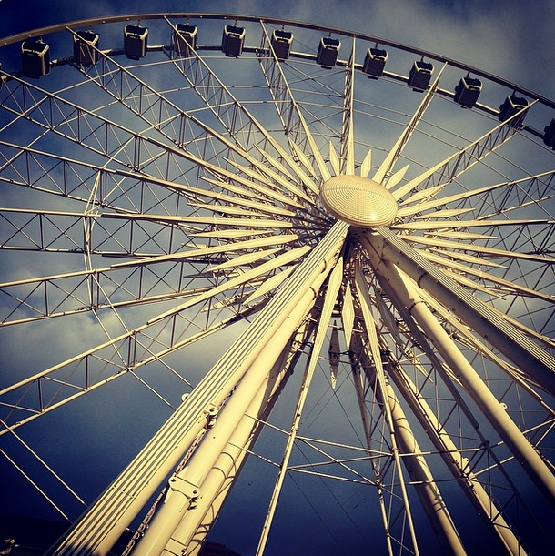 Ferris Wheel near Centennial Park by Lina Skandalakis