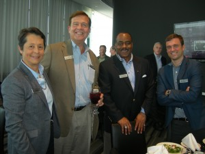 LINK brings together people from throughout the region: Luz Borrero, deputy COO of DeKalb County; Emory Morsberger, a developer from Gwinnett County; Moses Brown, a consultant from Fulton County; and Chris Appleton, executive director of the artist collaborative WonderRoot in Atlanta