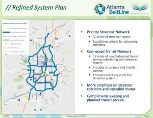 BeltLine, Streetcar refined system plan