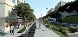 BeltLine with Streetcar along trail