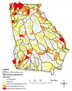 Georgia watersheds, high priority