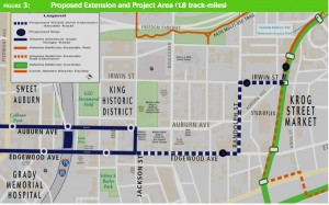 streetcar extension map