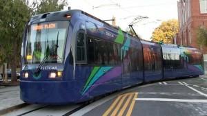Atlanta's streetcar system serves the Downtown area.