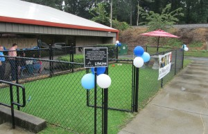 Anisa International donated $40,000 to upgrade the outdoor area of the Fulton County Animal Shelter. Dog runs were renovated and a new meet-and-greet space created for animals and their adoptive families. Credit: LifeLine