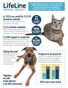 The animal shelters in Fulton and DeKalb counties are finding homes for 85 percent of pets. In 2012, the live release rate was closer to 15 percent. Credit: LifeLine