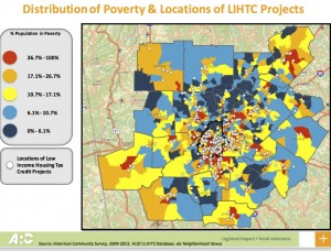 Georgia's formula for allocation low income tax credits has resulted in affordable housing being concentrated in poor communities. Credit: ARC