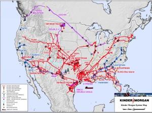 Kinder Morgan map, national