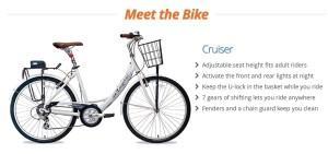 Bike share, zagster bike
