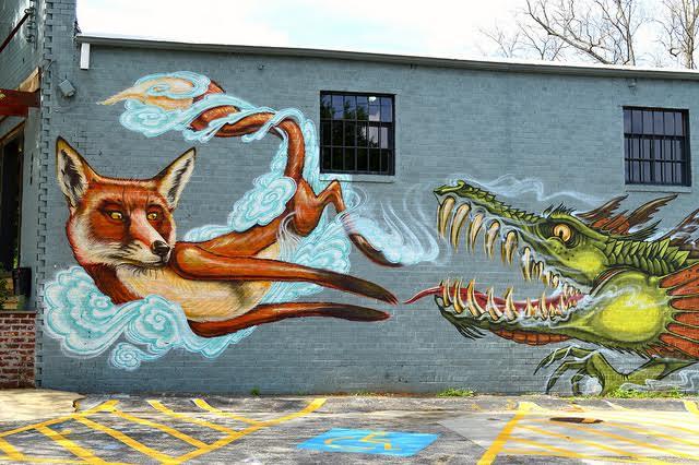 Fox and Dragon by Lisa Panero