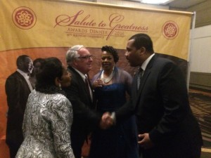 Salute Farris, Dexter, Bernice King Howard Buffett