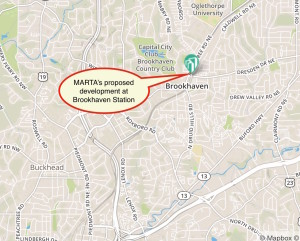 MARTA Brookhaven map