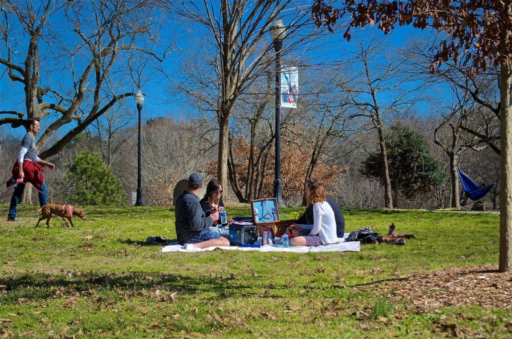 Picnic at Piedmont Park by John Becker