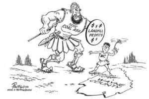 Coal ash, editorial cartoon